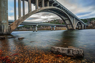 Photograph - Branson Lake Taneycomo Bridge by Gregory Ballos
