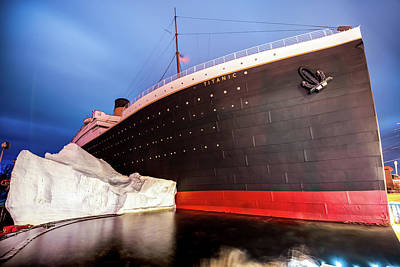 Photograph - Branson Titanic Museum And Iceberg by Gregory Ballos