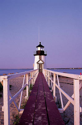 Photograph - Brant Point Lighthouse, Nantucket by Bud Freund