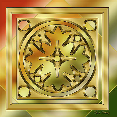 Digital Art - Brass Design 9 by Chuck Staley