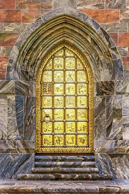 Photograph - Brass Entry Door At Bok Tower Gardens  -  Boktowerbrassentrydoor168943 by Frank J Benz