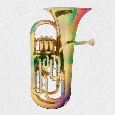 Mixed Media Royalty Free Images - Brass Euphonium 3 Royalty-Free Image by David Ridley