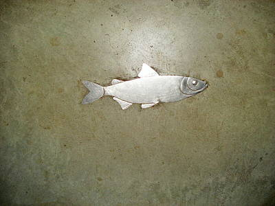 Landscape Photos Chad Dutson - Brass Fish Sculpture 102 by Select Photos