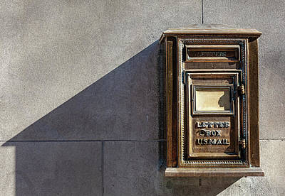 Photograph - Brass Letter Box by Robert Ullmann
