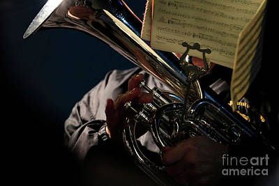 Photograph - Brass Valves And Music by Terri Waters