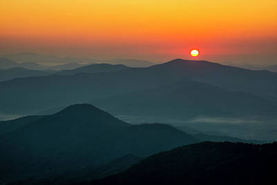 Photograph - Brasstown Bald Sunrise by Andy Crawford