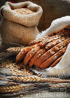 Photograph - Bread And Wheat Ears by Jelena Jovanovic