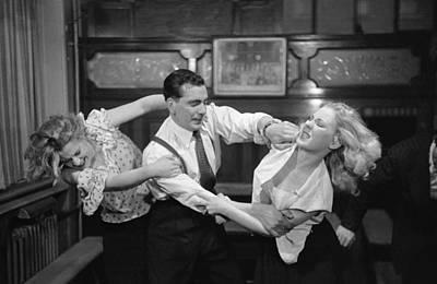 Pub Photograph - Break It Up by Bert Hardy