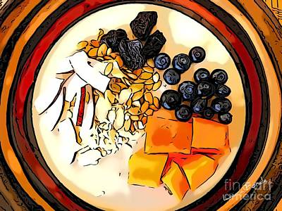 Digital Art - Breakfast 3 by Laura Forde