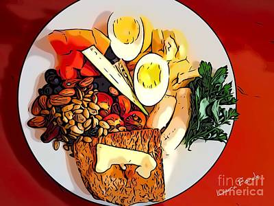 Digital Art - Breakfast by Laura Forde
