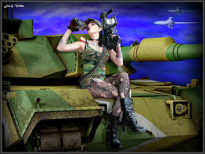 Photograph - Tank Girl Breaking Badass by Jon Volden