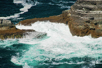 Portmagee Wall Art - Photograph - Breaking Waves At Kerry Cliffs One by Bob Phillips