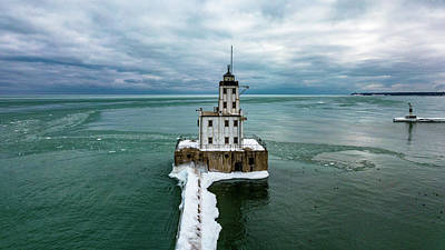 Photograph - Breakwater Lighthouse by Randy Scherkenbach