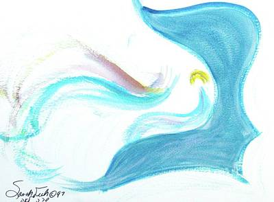 Painting - Breathe And Meditate B3 by Hebrewletters Sl