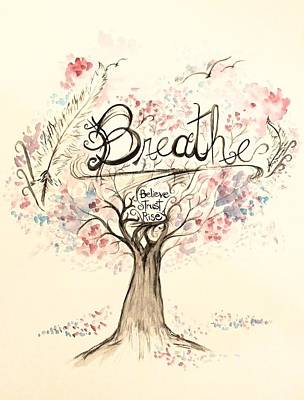 Painting - Breathe by Lisa Bunsey
