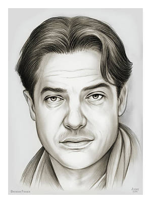 Lazy Cats - Brendan Fraser by Greg Joens
