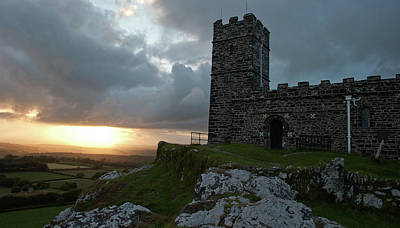 Photograph - Brentor Church At Sunset II by Helen Northcott