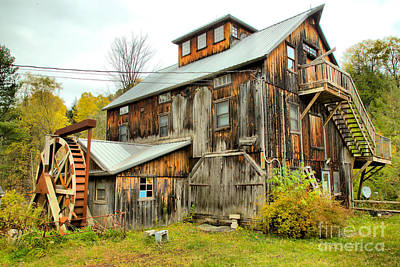 Photograph - Brewster River Grist Mill by Adam Jewell