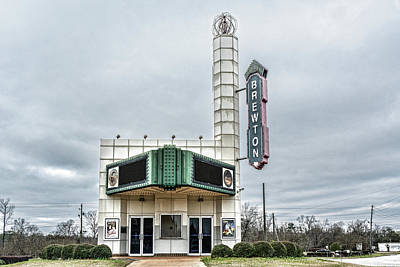 Photograph - Brewton Theatre Sign by Sharon Popek