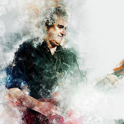 Painting - Brian May - 02 by Andrea Mazzocchetti