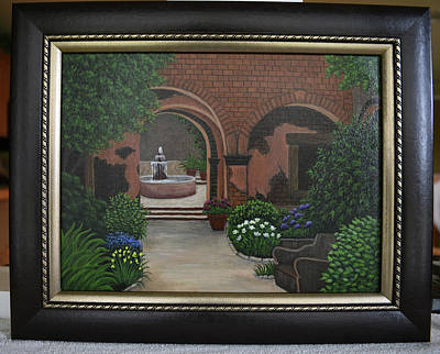 Painting - Brick Courtyard by Gloria Johnson