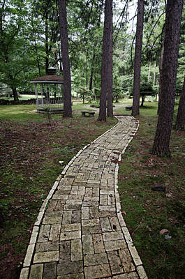 Photograph - Brick Path Through The Trees by Crystal Wightman