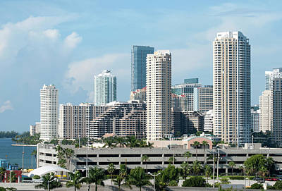 Photograph - Brickell Key Skyline by Ramunas Bruzas