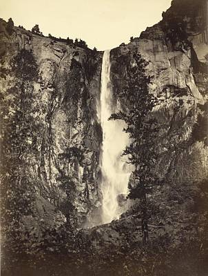 Photograph - Bridalveil Fall by Carleton E. Watkins