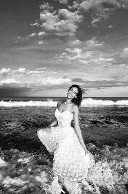 Photograph - Bride In The Ocean by Amyn Nasser