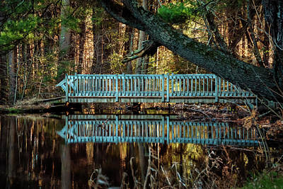 Photograph - Bridge At Belding Wildlife Management Area by Phil Cardamone