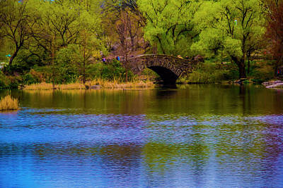 Art Print featuring the photograph Bridge In Central Park by Stuart Manning