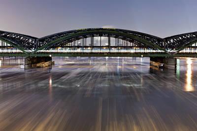 Photograph - Bridge In The Hamburg Harbour With by Mf-guddyx