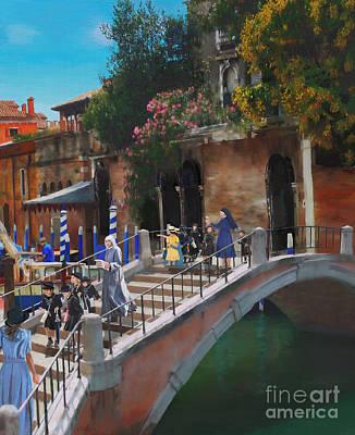 Painting - Bridge In Venice by Debra Chmelina
