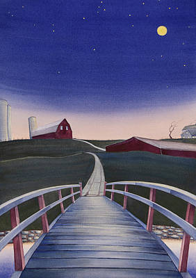 Painting - Bridge Over Buck Creek II by Scott Kirby