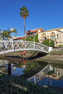 Wall Art - Photograph - Bridge Over Canal by Roslyn Wilkins