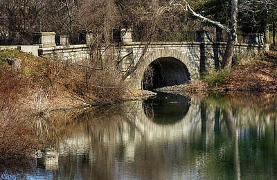 Photograph - Bridge Over Pond by Cate Franklyn