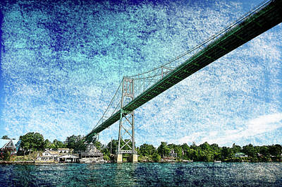 Photograph - Bridge Over St Lawrence River by Crystal Wightman
