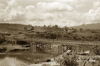 Photograph - Bridge Over The Dak Poko River From Fsb # 3 April 1968 by California Views Archives Mr Pat Hathaway Archives