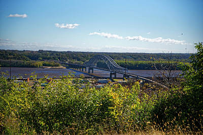 Photograph - Bridge Over The Mississippi by Peter Ponzio