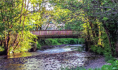 Photograph - Bridge Over West Okement River Okehampton Devon by Richard Brookes
