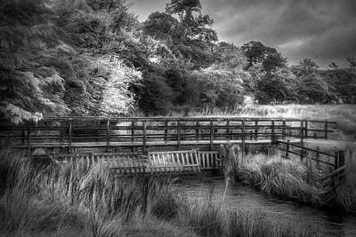 Photograph - Bridge Through Scotland  Black And White by Debra and Dave Vanderlaan