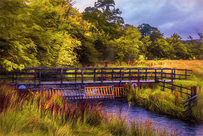 Photograph - Bridge Through Scotland In The Autumn Painting by Debra and Dave Vanderlaan