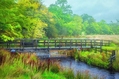 Photograph - Bridge Through Scotland On A Misty Morning  by Debra and Dave Vanderlaan