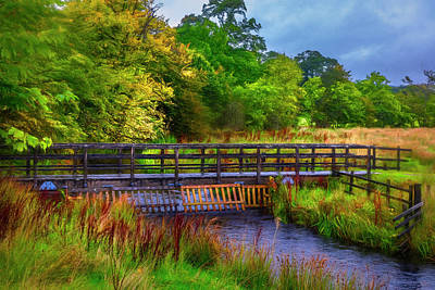 Photograph - Bridge Through Scotland Painting  by Debra and Dave Vanderlaan