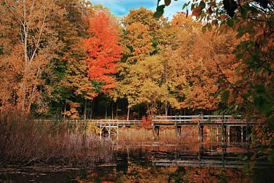 Photograph - Bridge to Autumn by Kristina Scarcelli