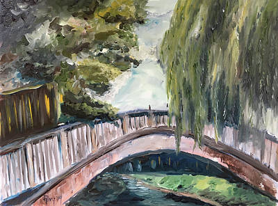 Landscape Painting - Bridge To Dorking by Roxy Rich