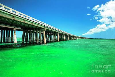 Tortuga Beach Photograph - Bridge To Heavenly Clouds, Florida Keys by Felix Lai