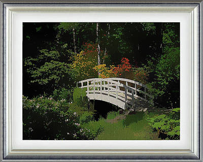 Mixed Media - Bridge To The Azalea Gardens by Clive Littin
