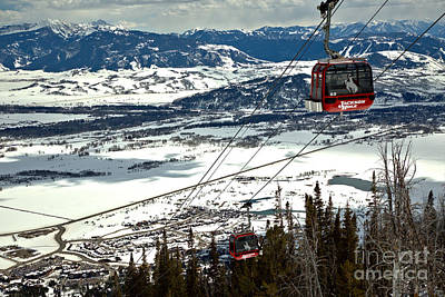 Photograph - Bridger Gondola Climbing Above The Trees by Adam Jewell