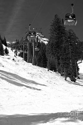 Photograph - Bridger Gondola Portrait Black And White by Adam Jewell